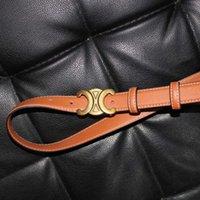 Новая черная золотая бабочка женская мода гладкая пряжка высокого качества PU пояса Q3P5