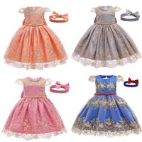 Toddler Girls Lace Dress Infant Girls Princess Dress Baby Ch...