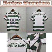 2001 Retro 03 Sporting Lizbon futbol formaları futbol gömlek TOP kalite Lizbon Vintage kadife sponsor Camisa de futebol Maillot ronaldo