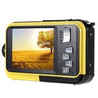 2.7inch 48MP subaquático impermeável câmera digital tela dupla vídeo camcorder câmera crianças portátil mini digital1