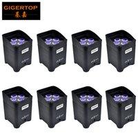 Бесплатная доставка 8шт / серия 4 х 6 Вт RGBWA UV батарея Led Par свет для свадьбы управления закрытого LED Event Par DMX512 / wirelessIR