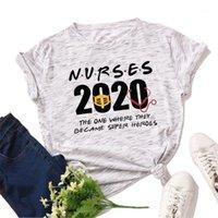 2020 Krankenschwester Brief Gedruckt Damen T-Shirt 100% Baumwolle Kurzarm Plus Größe S-5XL Weibliche T-Shirt Sommer Oansatz Top Tees1