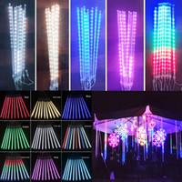 DHL Navidad luces de la decoración 30cm 8Lamps / juego de doble cara Patch Lluvia de meteoritos de la lámpara al aire libre a prueba de agua de luz LED barra del tubo de color claro