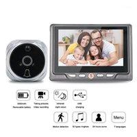 """Türklinke 4.3 """"LCD-Farbbildschirm Video-Eye-Tür-Viewer IR-Nachtsicht-visuelle Peephol-Kamera PO / video Digital-Türklingel-Kamera1"""
