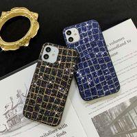 럭셔리 블링 전화 케이스 아이폰 12 11 Pro Max XS XR XS Max 7 8 플러스 Samsung S20 용 다채로운 반짝이 뒷면 커버