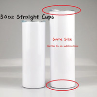 Heat Sublimation Tumblers 30oz Straight Cups with Lid Straw ...