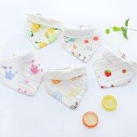 جودة عالية الطفل المرايل الغداء المرايل منشفة اللعاب الطفل أطفال الرضع 6 طبقات من الشاش خدود القماش