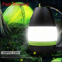 Lâmpadas de mesa multifuncionais 3 em 1 lâmpada de tenda LED lâmpada de acampamento luz de emergência usb recarregável lanternas portáteis zza2337 fymak ea hgr2s