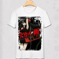 Akame GA Öldürmek T Gömlek Akame Ga Öldür Gece Raid T-Shirt Anime Tatsumi Tshirt Tokyo Ninja Assassin Kırmızı Göz Killer Tee Gömlek1