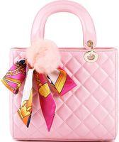 Fábrica rosa fábrica de subogao por atacado senhora ou mulheres canage de couro bolsa de couro feminino saco de bola de pele portátil lenços toffee sacola vrb44550_n0