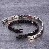 Vinterly Magnetic Bracelets для женской цепи Сердечный поперечный стальной магнитный браслет Femme Германий Германий Магнит Здоровья Браслет1