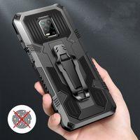 Mecha Armor Phone Case для iPhone 12 11 Pro Max Ударопрочный подставку Держатель ремня клип Cobster чехол для iPhone X XR XS MAX 6 6S 7 8PLUS