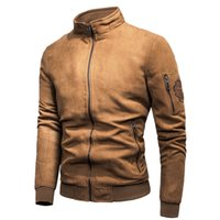 Men Brand New Spring Vintage Casual Suede Bomber Jacket Coat...