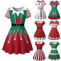 Encantador vestido mulheres inverno boneco de neve Natal vermelho 1950s Notas Imprimir traje vintage swing festa vestido vestido hiver femme # guahao1