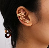18 k clip de oro en pendiente botón de instantánea de moda joyería oreja manguito oro placa pendiente aro aro