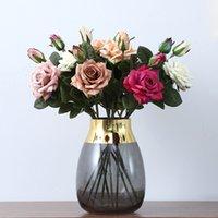 2 Head Artificial Rose Edge Curl Simulación Rose Flor Boda Decoración del hogar Flower Flower Día de San Valentín Regalo 13 Color T9I001011 255 G2