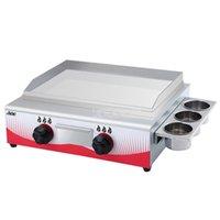 55 * 34 CM Paslanmaz Çelik Ticari Gaz Yakıt Izgara Bakeware Barbekü Dorayaki Teppanyaki Kaldırım Kalamar Demir Plaka Pişirme Makinesi