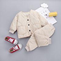2010 meninas bebés / meninos espessos espessa camisola quente conjunto de roupas de criança conjunto crianças conjuntos de roupas crianças outono inverno parkas outfits conjunto lj200831