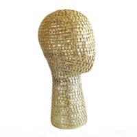 Cabeza de peluca de metal - soporte del soporte de la peluca maniquí para mostrar el sombrero, la máscara, la tapa, la peluca - 21 pulgadas