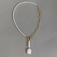 Gothic Natural Pearl Halskette Ästhetische Halloween Party Mode Schmuck Geschenk für Freunde J1218