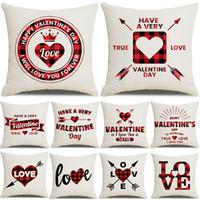 Dia dos namorados lance travesseiro capa 18 polegadas travesseiro para casa decoração coração amor almofada casos sofá sofá decorações jk2101xb