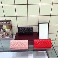 뜨거운 판매 디자이너 지갑 도매 레이디 2 G Marmont Purse Long Wallet 다채로운 카드 holderwomen 클래식 지퍼 포켓 카드 홀더 상자