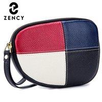 zency لينة جلد طبيعي المرأة محافظ جودة عالية تصميم فاخر خليط الإناث المحافظ التسوق عملة جيوب السيدات المحافظ