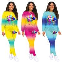Zwei Stück Set Matching Sets für Frauen Trainingsanzug Plus Größe Kleidung Afrikanische Kleidung Jogging Femme 2 Stück Sets Damen Outfits Q0114