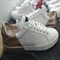 Fashion Best Top Quality Real Leather Handmade Multicolor Gradiente Tessuto Tessuto Tessuto Sneakers Uomo Donna Famosa Scarpe Scarpe Trainer HM011 D3
