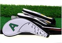 Новый дизайнерский гольф железный чехол, клубная головная крышка, цифровая молния спортивный мяч образец защитной крышки, PU водонепроницаемый 9 шт. / Групповой цвет 001