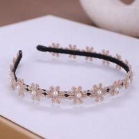 Haarclips Barrettes Forseven Charming Perle Stirnband Spitze Blume Reifen Kopfschmuck Frauen Kind Koreanisch Einfache Legierung Haarband Zubehör Jl1
