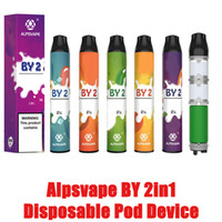 100% Original Alpsvape BY 2in1 disposable pod device Flavs sliding bottom change flav 6ml prefilled 900mah vape pen kit VS AIR BAR LUX