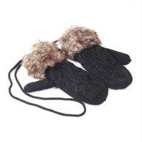 Пять пальцев перчатки Valink 2021 мода милые женщины зима теплые трикотажные висячие шеи Ragwool варежки 6 цвета высококачественные женские перчатки1