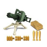 Montaje educativo para niños Juguete de juguete Bloques de construcción Desarrollo de inteligencia Armas pesadas militares Ornamentos de bricolaje