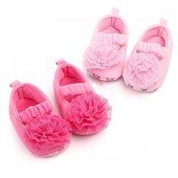 새로운 귀여운 레이스 꽃 아기 소녀 신발 신생아 유아 아기 신발 부드러운 면화 안티 - 슬립 첫 번째 워커 공주님 0-18 개월 1
