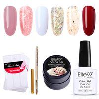 Elite99 8 pezzi / lot Nail Art Gel Polish Kit Immergiti Scintillio Shimmer Gel Smalto per unghie con Guides Francese Set di manicure