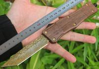 1 stücke Neues Design Auto Taktisches Messer 440c Tanto Point Blade Zn-al Legierung Griff Outdoor Survival Messer mit Nylonscheide