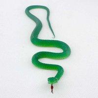 3шт / Новизна Подарок Halloween Tricky Смешной Spoof игрушка Моделирование Мягкой Scary Поддельного Snake Horror игрушка для партии событие