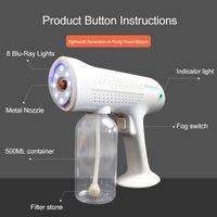 Neue heiße Hand elektrische Haar-Nano-Spray Gun Blue Ray Desinfektions-Sterilisator 1200W Haushalts-Reinigungs-Werkzeuge