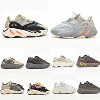 2020 Dalga Koşucu Katı Gri Atalet Leylak Bebek Açık Ayakkabı Kanye West Kid 7oo Sneakers Erkek Kız Boyutu Boyutu Için Glow Karanlık 26-35