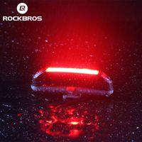 RockBros Велосипедные световые велосипедные дождя водонепроницаемый 30Леполитенные супер огни с USB аккумуляторной безопасности Ночной езда задний FalShlight