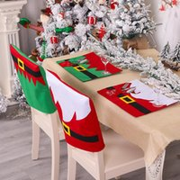1Pcs Santa Snowman Xmas Chair Covers Christmas Decorations for Home Happy New Year Merry Christmas Table Decor Mat Navidad Natal