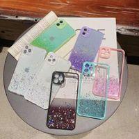 Glitter Case iPhone 12 Mini 11 Pro Max X XS XR 8 7 Artı Degrade Kontrast Arka Kapak