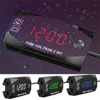 الموقتات ماء الفولتميتر الإلكترونية ساعة قياس 2-in-1 متعددة الوظائف شاشة واسعة النطاق 1