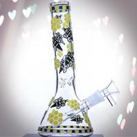 """8"""" çift katlı filtre cam su borusu yağ kulesi rehabilitasyon DAB teçhizat Cam Bong Bong karanlık bir tema uzun beher Glow"""