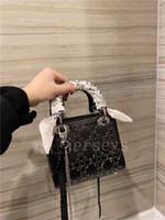 عالية الجودة الفاخرة مصمم الحرير داي فاي الماس كريستال ثلاثة شبكة حجر الراين الساخنة حمل حقيبة التسوق مصغرة الكتف رسول حقيبة صغيرة