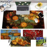 Mouse Pads Restos de pulso Maiya Chegais Van Gogh Art Grande PC PC Mat de Borracha Mousepad