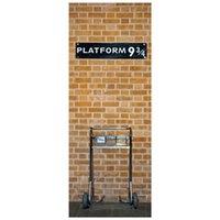 77 * 200 cm Erkek Potter Film Afiş Sihirli Platformu 9-3 / 4 3D Kapı Duvar Vinil Duvar Çıkartmaları Çocuk Odası Dekorasyon Karikatür Duvar Kağıdı 201106