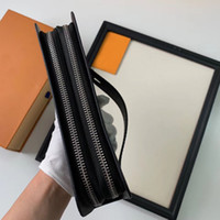Box ile Çanta Kadın Tasarımcı Cüzdan Çanta Moda Kart Sahibi Cep Uzun Kadınlar Bag fermuar 2020 yeni cüzdan Kadın Cüzdan Çift