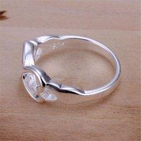 أسعار الجملة للسيدة المرأة المدرجة الفضة اللون مزدوجة الصليب الدائري مجوهرات لطيف هدية R092 H SQCVIV